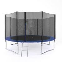 Trampoline med sikkerhetsnett - 425 cm