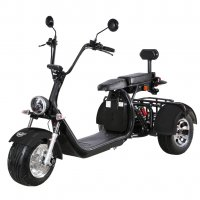 Elscooter Trehjuling - Svart 2000W