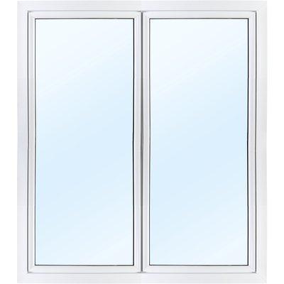 Dobbel balkongdør PVC 3-lags - Utoverslående - U-verdi 0,96