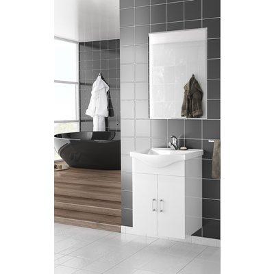 Møbelpakke Alba 55 hvit med speil
