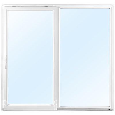 2-delt skyvedel i 2-lags glass - Helglassert - PVC