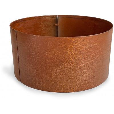 Corten stålpotter rund - Ø40 cm