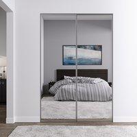 Venedig skyvedør for garderobeskap - 2 Dører - speil
