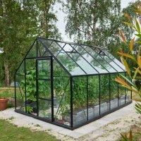Drivhus Universal - Antracit med herdet glass 9,9 m²