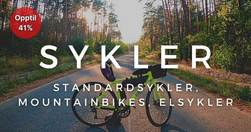 Sykler - Opptil 41%