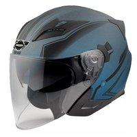 Hjelm til motorsykkel - blå og svart