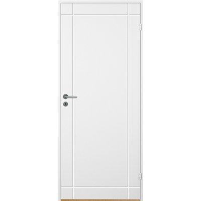 Skardsøya innerdør - Kompakt dörrblad med spårfräst dekor A4