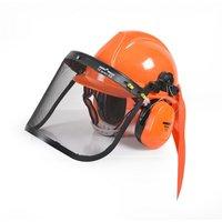 Beskyttelseshjelm med ansiktsbeskyttelse og hørselsvern