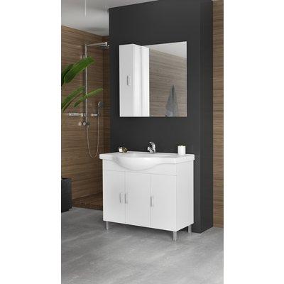 Møbelpakke Alba 100 hvit med speilveggskap