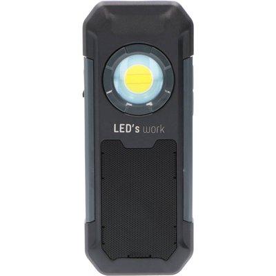 Arbeidslampe med høyttaler 550lm