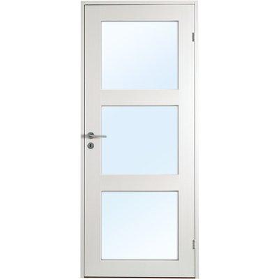 Ulvøya innerdør - 1speil - 3 Glass - Massiv