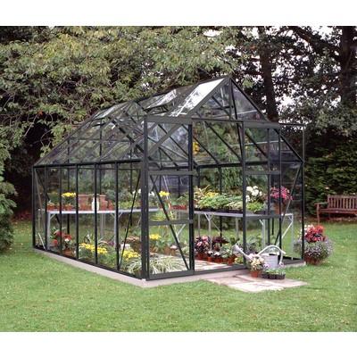 Magnum drivhus - 9,9 m² svart, med herdet glass