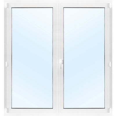 Dobbel balkongdør PVC 2-lags - Innadslående