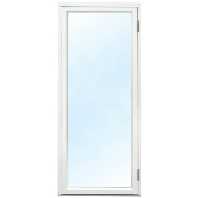 Vindusdører - helglassert 3-glass - aluminium - U-verdi: 1,1