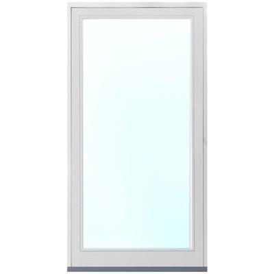 Fasadeparti aluminium, fast parti - 3-lags glass