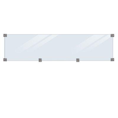 Glassgjerde Herdet - lengde 174 cm