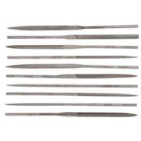 Sett med nålfiler, 10 deler - uten håndtak