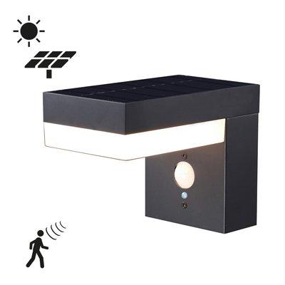 Solcelledrevet vegglampe med sensor