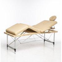 Massasjebord med metallben - 4 soner - Beige
