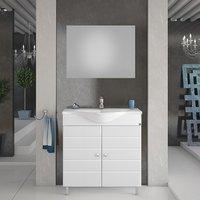 Møbelpakke Capri 80 hvit med speil
