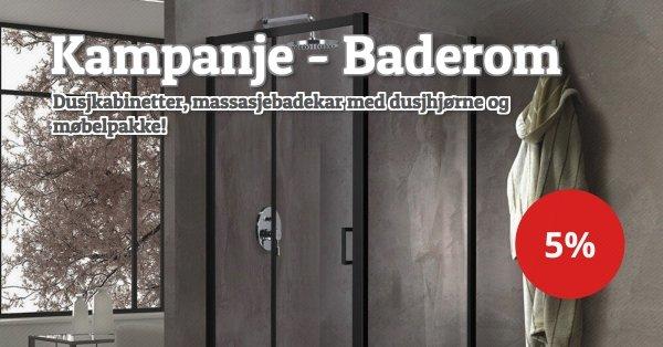 Dusjkabinetter, massasjebadekar med dusjhjørne og møbelpakke -