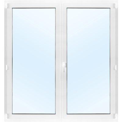 Dobbel balkongdør PVC 2-lags - Innadslående med vipp