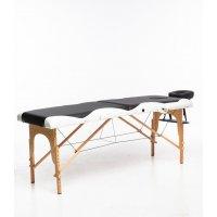 Massasjebord med treben - 2 soner - Svart/Hvit